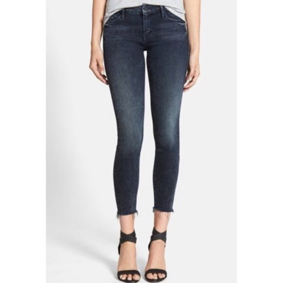 Mother The Looker Ankle Fray Jean